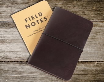 Field Notes Cover. Leather cover for Field Notes. Everyday carry edc. Quality veg tanned leather. FREE UK Shipping and FREE Personalisation