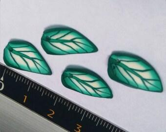 Polymer clay leaf pendant 6