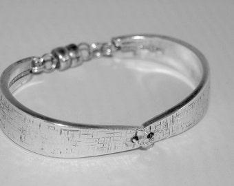 "Spoon Bracelet "" TWA""  Medium Vintage Silverware Handmade Antique Bracelet Mother's Day Wedding Gift Fork Bracelet Silver Bracelet - 87"