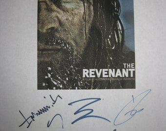 The Revenant Signed Film Movie Screenplay Script X5 Autograph Leonardo DiCaprio Tom Hardy Aldjandro Gonzalez Inarritu Domhnall Gleeson