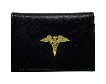 Medical Caduceus Business Card Case