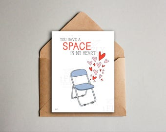 Funny Pittsburgh Valentine's Day Card -  Pittsburgh Parking Chair - Yinzer Valentine + Anniversary Love Card - Printable - Instant Download