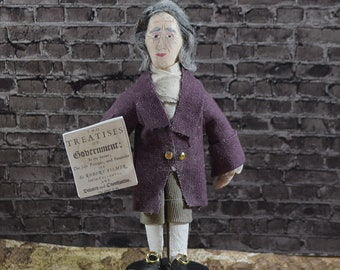 John Locke Historical Doll Philosopher Political WriterThinker Miniature Sized Collectible