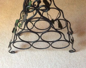 Metal Wine Rack-Grape Wine Accents