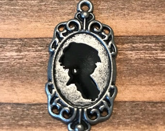Silhoutte Focal Pendant/Antique Silver/Jewelry Supply Sale/Clearance Jewelry Supplies