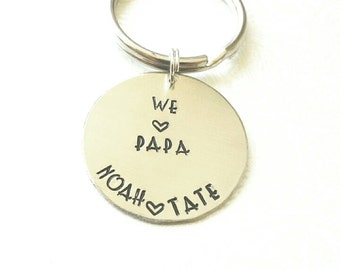 Papa Personalized Gift, Personalized Keychain, Gift for Papa, Gift for Papa from Kids, Gifts for Papa, Gift for Him, Grandpa Gift
