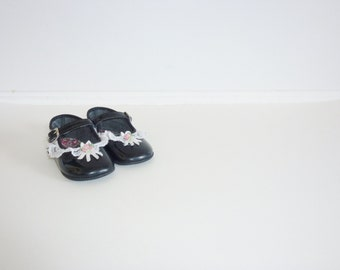 Vintage Black Mary-Jane Baby Shoes