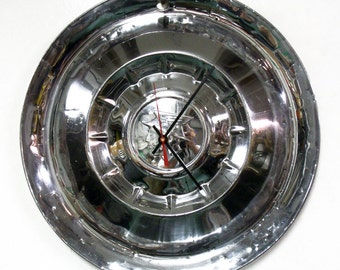 1955 Mercury Hub Cap Clock - Monterey Montclair Custom Wall Clock - Automotive Decor - 50's Classic Car Hubcap