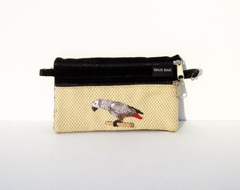 Parrot, African Grey Parrot 2 Compartment Pouch