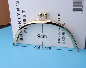 7''1/4  Bag Frame Handbag Frame  Gold Antique Brass Kelly frame vintage style purse Frame 18.5*9cm