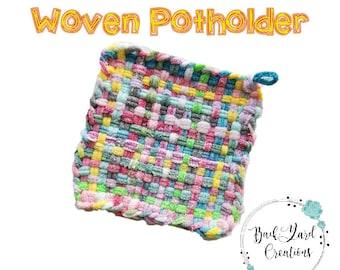 Granny's Woven Cotton Potholder, POTHOLDERS, Ready to Ship