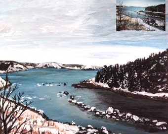 Custom Small Landscape painting from Photograph | Acrylic Painting 11x14in | Personalized Scenery Art | Natural landscape | Unique Gift