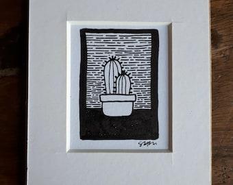 Cactuses Original Drawing