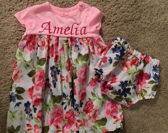 Girls dress with matching bloomers