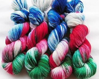 Handdyed SockYarn, 75 Wool, 25 Polyamid 100g 3.5 oz. Nr. 107