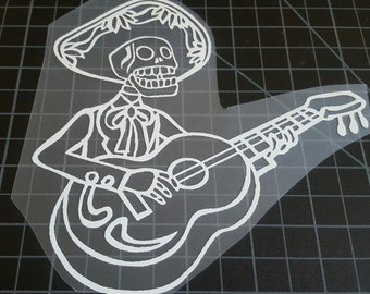Day of the dead Dia de Los Muertos mariachi vinyl decal car truck laptop Free Shipping!