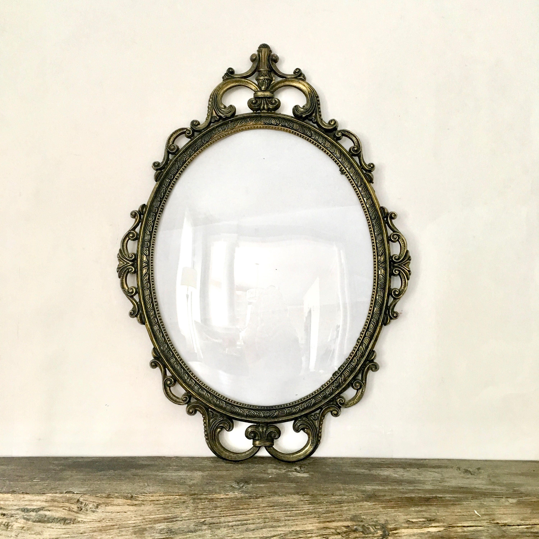 Gold Oval Ornate Frame / Gilded oval frame / Italian Hollywood ...