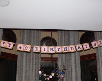Large Custom Birthday Banner