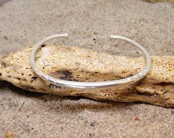 Etched Sterling Silver  West-African Bracelet