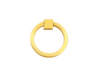 "Ring Pull 2"" Round Brass BB"
