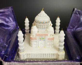 An Architectural Sample Model Of The Taj Mahal In Original Case.