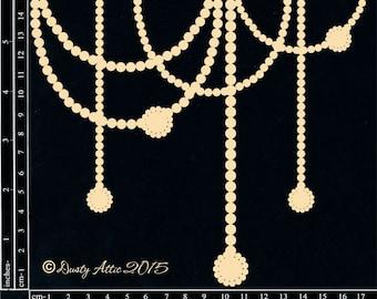 Dusty Attic, DA1336, Elegant Pearls , Scrapbooking, Chipboard, Card Making, Mixed Media, DYI crafts