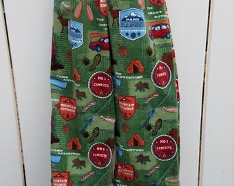 Size 3/4 Green Camping Adventures Outdoors Flannel Sleep Lounge Pants