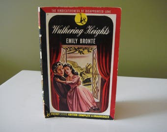 Vintage Paperback Book - Wuthering Heights - Emily Bronte - 1949 Pocket Book Edition