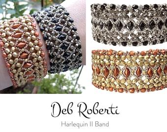 Harlequin II Band beaded pattern tutorial by Deb Roberti