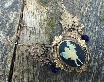 Steampunk Victorian Renaissance Baroque Fairy Cameo Choker Necklace