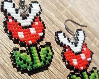 Mario Piranha Fleur earrings