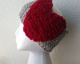 happy Heart Crocheted Head Wrap
