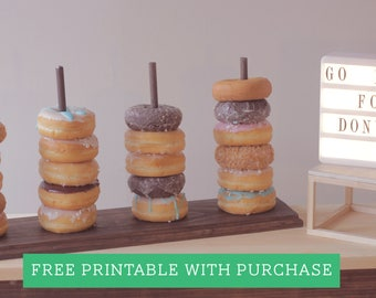 Donut Stand, Donut Display, Donut Party, Dessert Bar, Donut Holder, Donut Bar, Doughnut Stand, Doughnut Bar, Doughnut Wall, wedding donut
