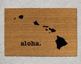 Hawaii Doormat, Hawaii Door Mat, Hawaii Welcome Mat, Hawaii State Doormat, Doormat, Door Mat, State Doormat, Welcome Mat, Hawaii Mat, Aloha
