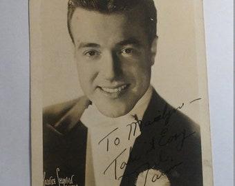 Spring Sale Vintage 1941 Big Band Leader Mel Marion Signed Photograph