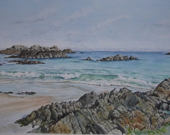 Corblets Bay - Original Watercolour