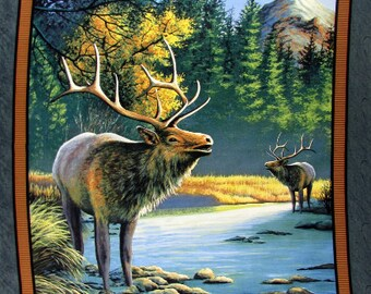 Wild Wings Mountain Sky Elk Fabric From Springs Creative