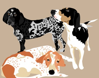 Custom Dog Portrait, Pet Portrait, Dog illustration, Custom Gift, Pet lover gift, Custom pet illustration, Personalized gift