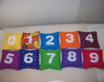 Bean Bags with Numbers