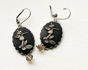 Fairy Cameo Earrings, Fairy Earrings, Faerie Cameo Earrings, Fairy Jewelry