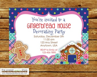Gingerbread Party Invitation | Gingerbread Invitation | Gingerbread Decorating Party Invitation | Holiday Party | Christmas Party