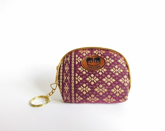 Purple-Gold Coin Purse - Perfect Gift From Thailand