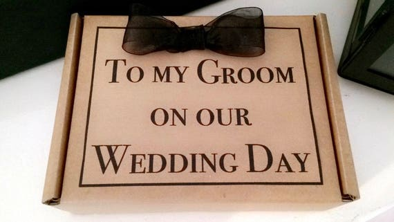 Husband To Be Gift: Groom To Be Gift Box Husband To Be Wedding Morning Present