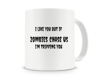 Zombie Chase us Mug~The Walking Dead~Zombie gift~Zombie fan~Rick Grimes mug~Daryl Dixon Mug~Fear~work out~Humor~Running~Ceramic Mug~Walkers