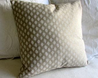 SAHARA CHALK designer fabric pillow cover 18x18 20x20 22x22 24x24 26x26 10x20 12x20 13x26