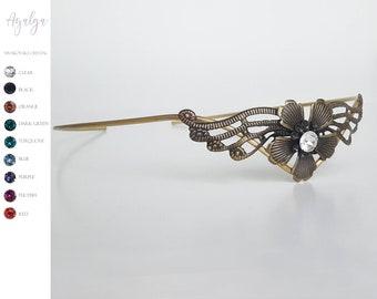 Swarovski tiara - elven crown - medieval tiara- statement jewelry - statement jewelry - tiara crown- woodland crown - circlet - tiara crown