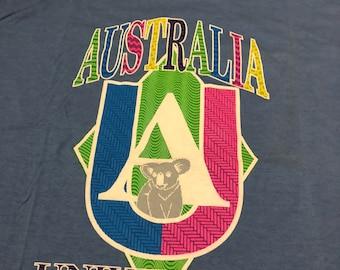 vintage Australia University koala bear one size fits all t shirt