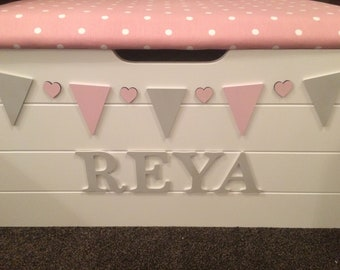 Wooden toy box, personalised toy box, toy storage, toy chest, extra large toy box, bedding box,
