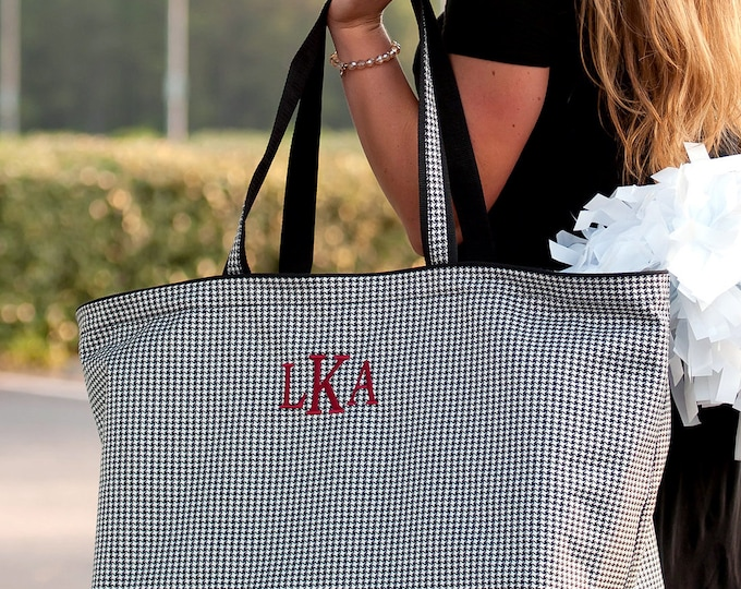 Monogrammed Ultimate Tote, Game day tote, Jumbo Organizer Tote, Oversized Bag, Teacher Bag, Coaches Bag, Group Discounts, Free Monogramming!