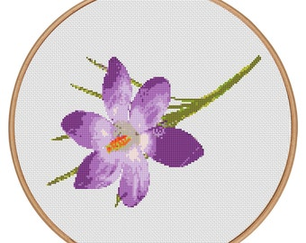 MORE for FREE - Spring in Purple- Counted Cross stitch pattern PDF - Instant Download - Cross Stitch Pattern-Flowers-Love- Needlepoint #1451